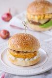 白薯素食者汉堡 免版税库存照片