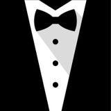 黑白蝶形领结无尾礼服 免版税库存照片
