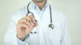 白血球减少症,在透明屏幕上的Writing医生 影视素材