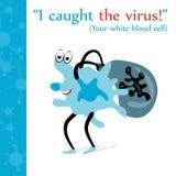 白血球感染了病毒 库存图片