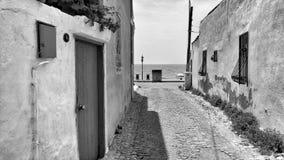 黑白街道 库存图片