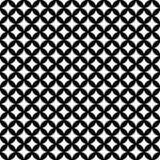 黑白被互联的圈子瓦片样式重复  免版税库存照片
