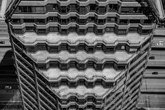 黑白西雅图的摩天大楼 库存图片