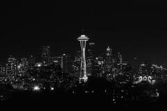 黑白西雅图 库存照片