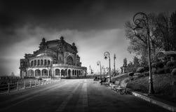 黑白都市风景 免版税库存图片