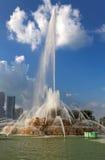 白金汉喷泉在格兰特公园,芝加哥,美国。 免版税库存图片