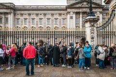 白金汉宫在伦敦,英国 库存图片