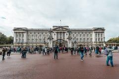 白金汉宫在伦敦,英国 库存照片