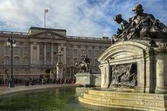 白金汉宫-伦敦-英国 库存图片