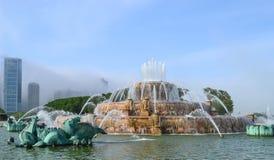 白金汉纪念喷泉,芝加哥,伊利诺伊,美国 库存图片