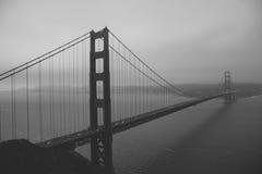 黑白金门大桥,旧金山加利福尼亚美国 免版税库存照片
