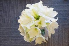 白阿马里丽斯花束  新娘,庆祝和Birhtday概念 ?? 免版税库存图片