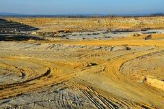 白陶土的采矿猎物在西波希米亚 免版税库存照片