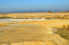 白陶土的采矿猎物在西波希米亚 免版税图库摄影