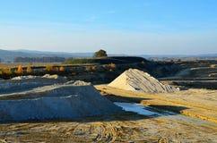 白陶土的采矿猎物在西波希米亚 库存照片