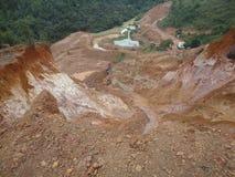 白陶土矿 库存图片