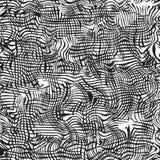 黑白难看的东西波浪无缝的样式 免版税库存图片