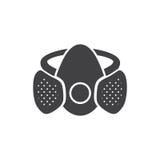黑白面具标志 免版税库存照片