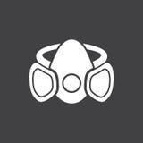 黑白面具标志 库存照片