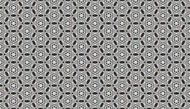 黑白颜色 无缝花卉的模式 免版税库存图片
