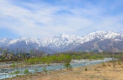 白马风景在长野,日本 免版税库存图片