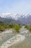 白马风景在长野,日本 免版税库存照片