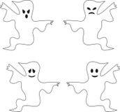 黑白鬼的鬼魂例证 库存照片