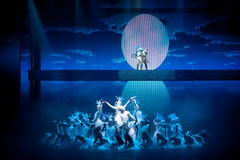 白鹭的故乡--历史样式歌曲和舞蹈戏曲不可思议的魔术-淦Po 免版税库存照片