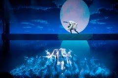 白鹭的故乡--历史样式歌曲和舞蹈戏曲 免版税库存照片