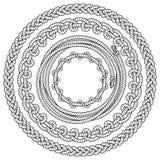 黑白绳索框架 免版税库存图片