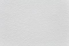 白水泥墙壁被绘的纹理 库存照片