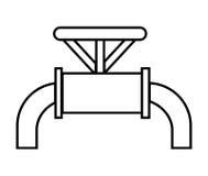 黑白水管,向量图形 向量例证