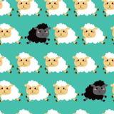 黑白绵羊样式 库存照片