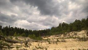 白黄色砂岩的一点房子 库存图片
