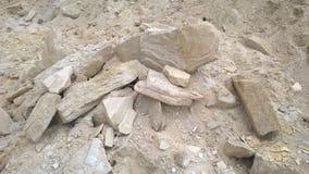 白黄色砂岩 库存照片