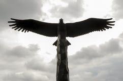 白头鹰雕象剪影 免版税库存图片
