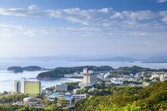 白滨,日本海滩前的地平线 免版税库存图片