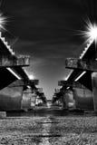 黑白Waimakariri的桥梁 库存照片