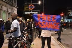 百万个面具3月在伦敦 库存照片