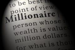 百万富翁的定义 免版税图库摄影