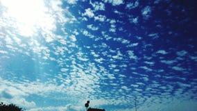 百万朵小的云彩 库存图片