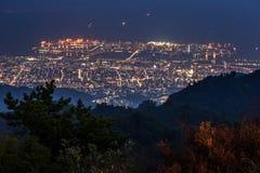 10百万美元夜视图。神户。日本 免版税库存照片