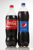 百事可乐和可口可乐 免版税库存照片