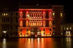 百人队队长宫殿,威尼斯,意大利 免版税库存照片