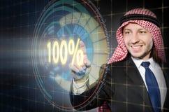 百分之一百100的概念 免版税库存照片