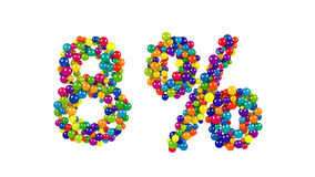 以百分之八的形式五颜六色的球形 免版税库存照片
