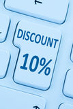 10%百分之十折扣按钮优惠券销售网上购物inte 免版税库存图片