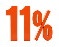 百分之折扣3d标志 免版税库存照片