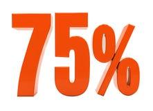 百分之折扣3d标志 图库摄影
