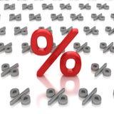 百分比价格符号 免版税库存图片
